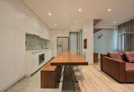 thiết kế căn hộ không tường ngăn