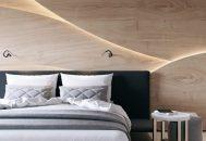 thiết kế phòng ngủ gỗ tự nhiên