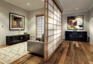 thiết kế nội thất phòng khách phong cách Nhật