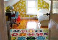 Thiết kế phòng ngủ cho trẻ trên tầng áp mái