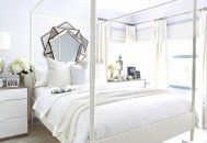 Thiết kế phòng ngủ màu trắng đơn giản