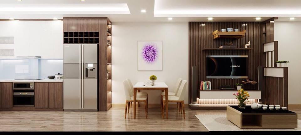 thiết kế nội thất căn hộ hanico mai động
