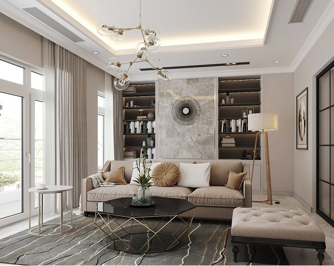 thi công nội thất chung cư luxury bắc ninh